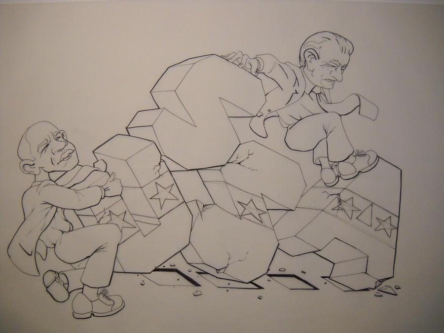 Tea Party Cartoon by charlieblue666