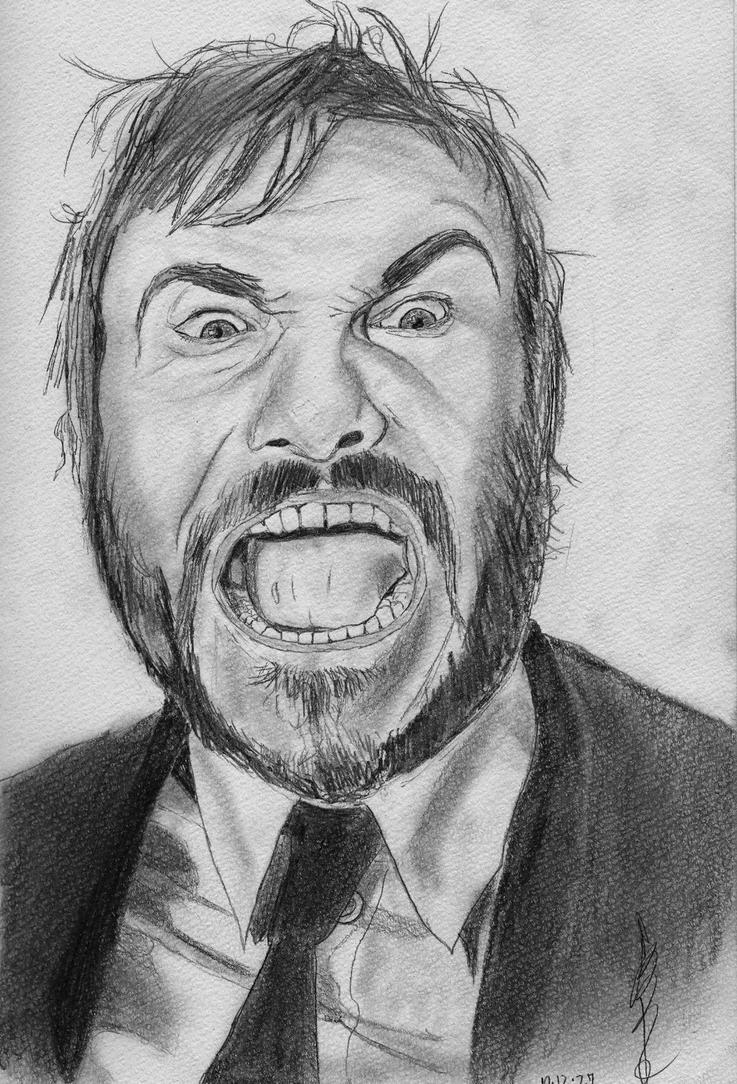 Jack Black-Pencil drawing by Zakimiya on DeviantArt