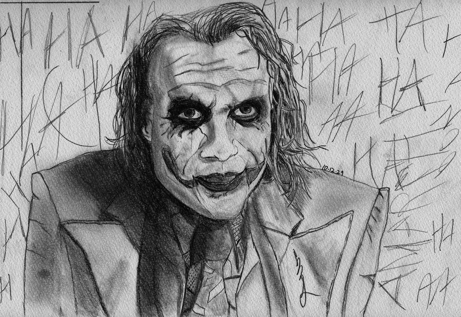 The joker pencil drawing by zakimiya