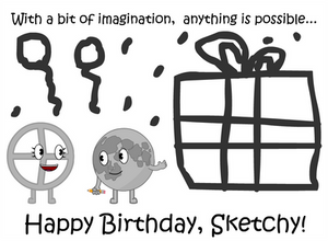 Simple birthday drawing