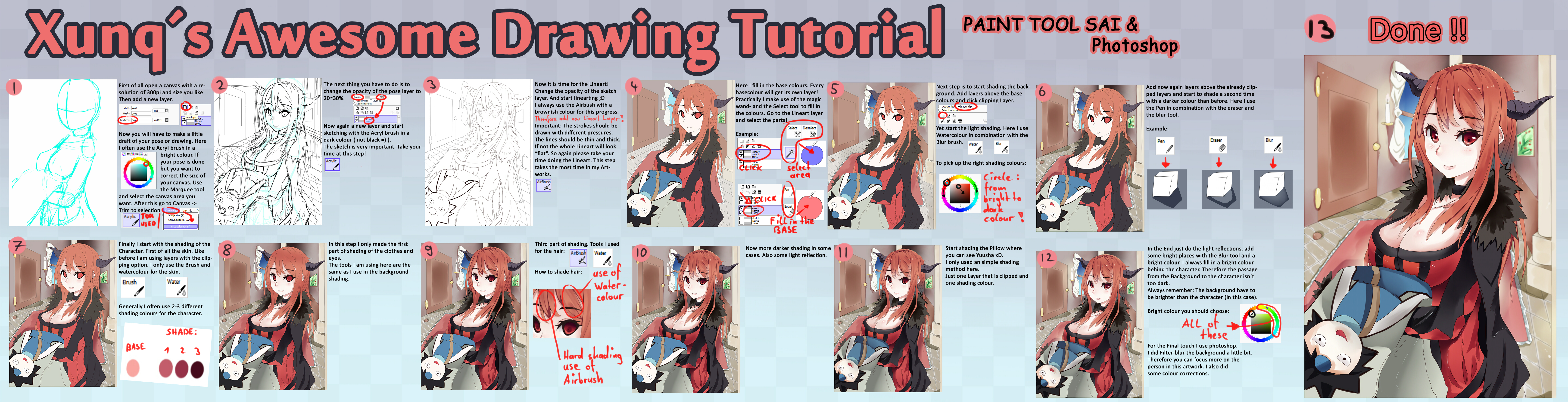 How to draw Manga Art by Xunq