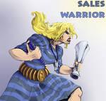 sales warrior woman