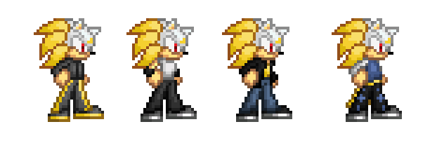 Nitro (Hedgehog Piece Version) Alternate Outfits by jameswolf100