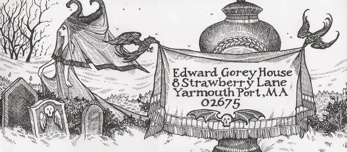 Edward Gorey Envelope by pixelfish