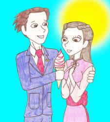 Phoenix Wright And Iris's Romantic Summery Day by Nightwishrockz