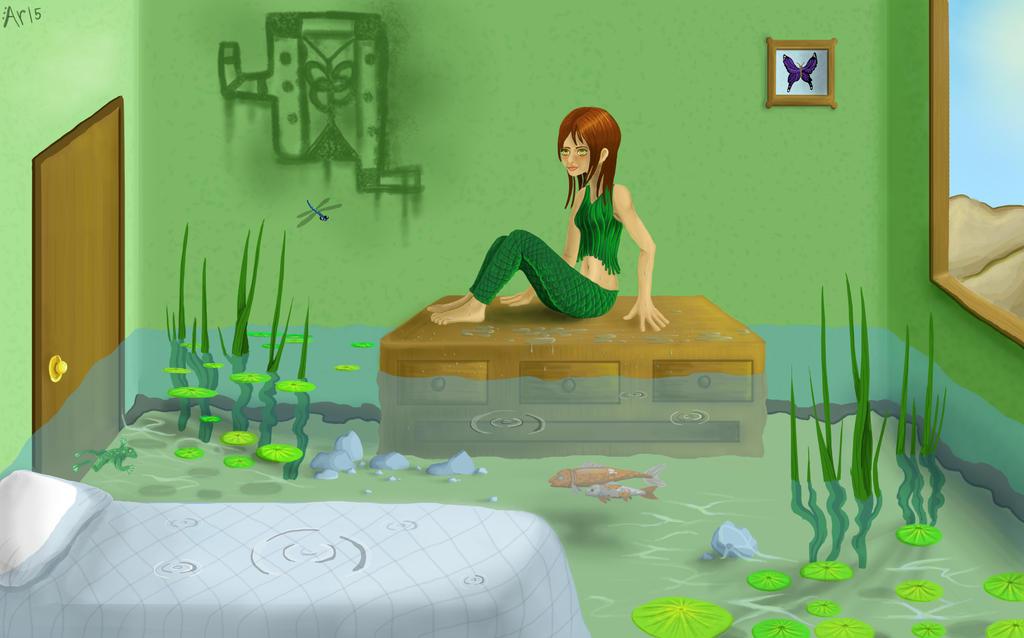 Water wonderland: Indoor swamp