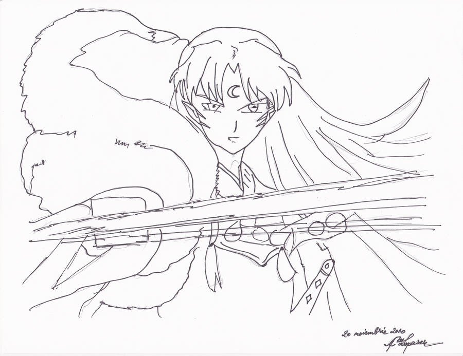 sesshoumaru coloring pages - photo#36