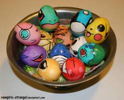 Pokemon Easter Eggs by vampiric-strangel
