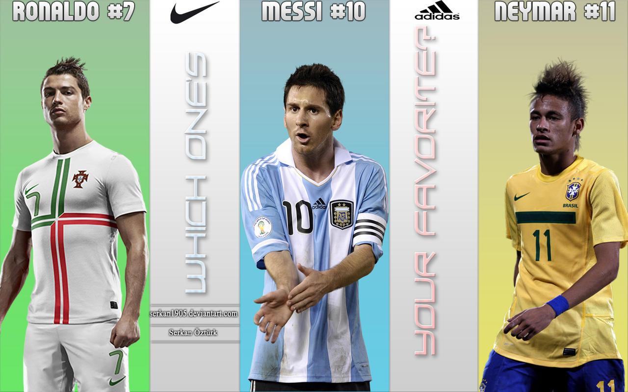 Messi Ronaldo Neymar by Serkan1905Messi Vs Neymar Vs Cristiano Ronaldo