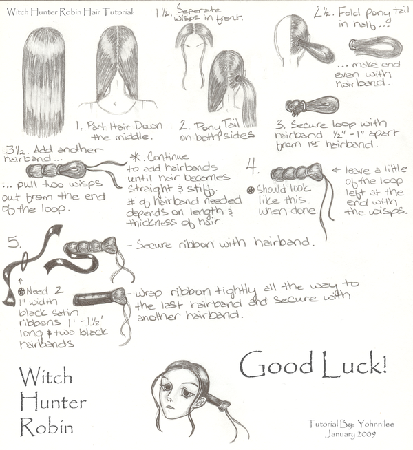 Witch Hunter Hair Tutorial by Yohnnilee