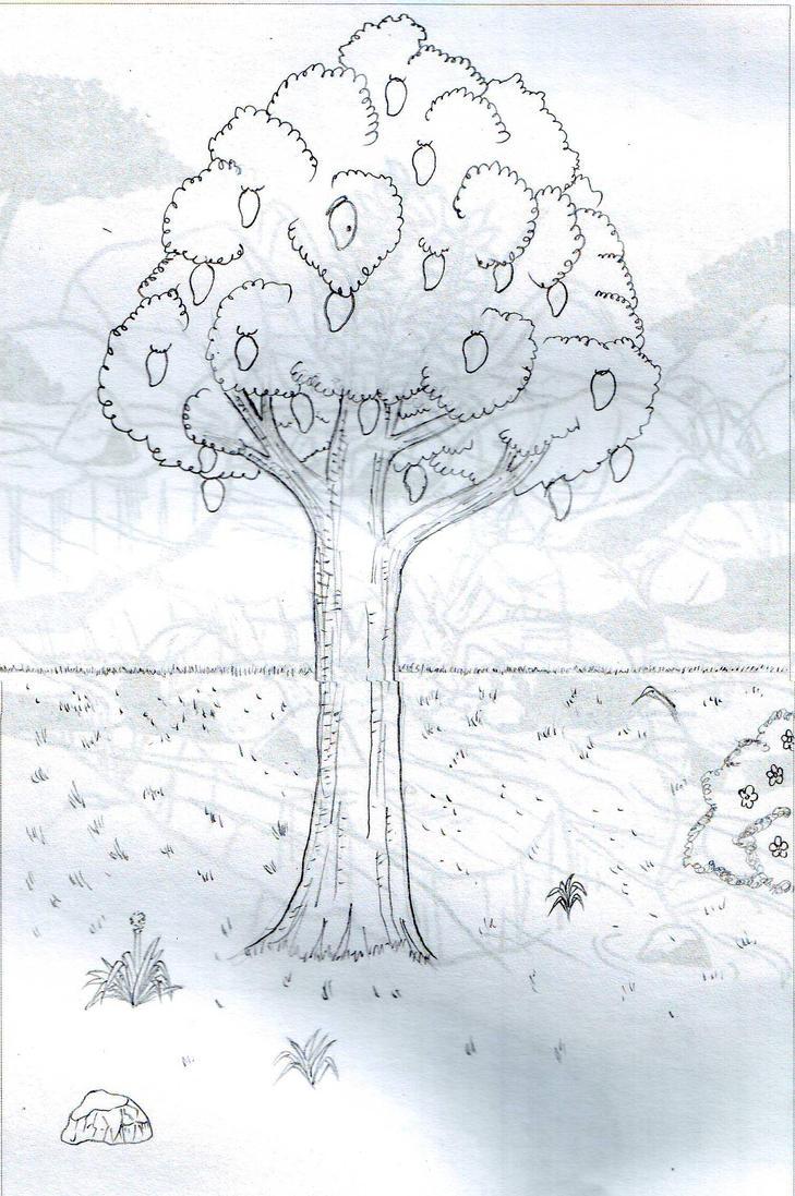 Line Art Mango : The mango tree by dorkycats on deviantart