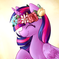 Princess Twilight Flowercrown by LittlePinkAlpaca