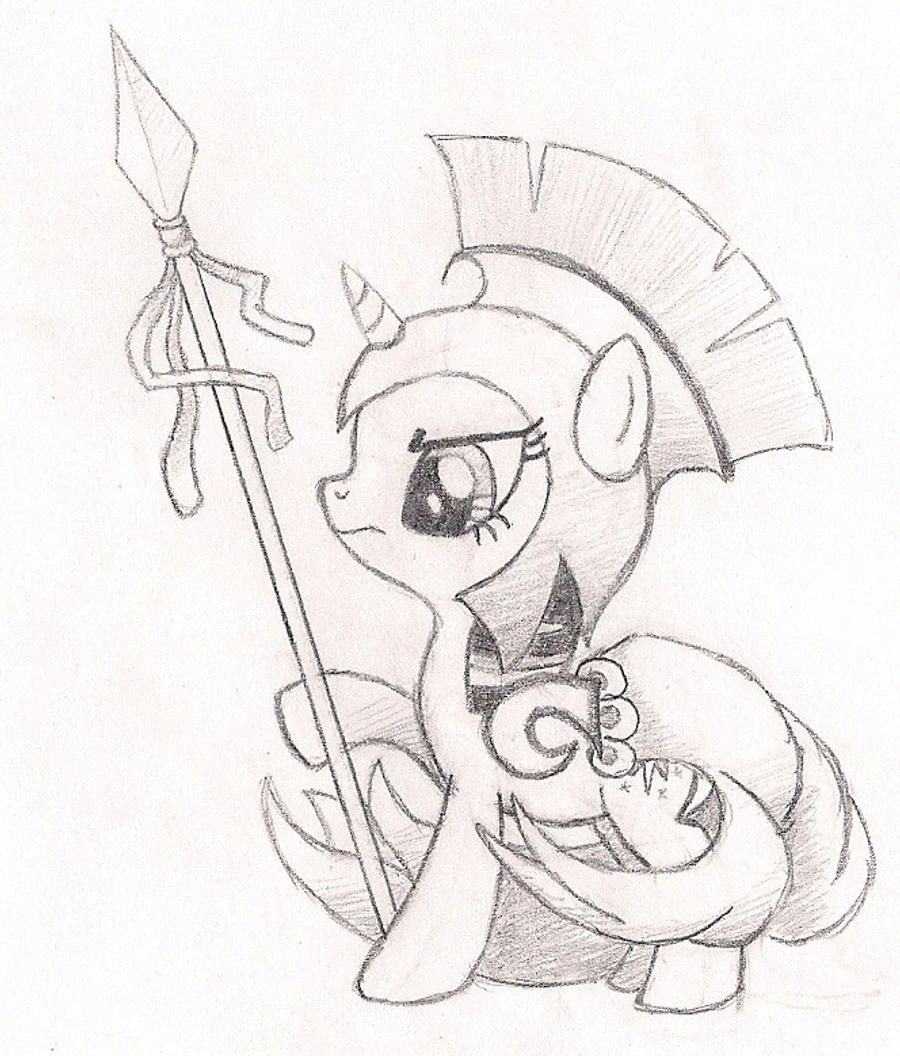 Twilight Sparkle as Athena by drawponies on DeviantArt