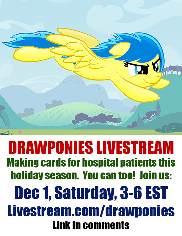Livestream SATURDAY Dec 1 from 3 to 6 pm EST by drawponies