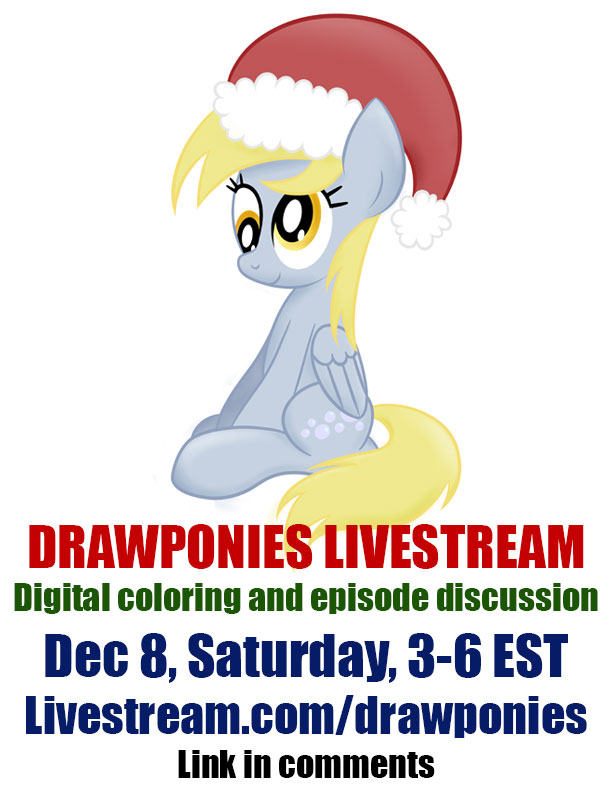 Livestream SATURDAY Dec 8 from 3 to 6 pm EST by drawponies