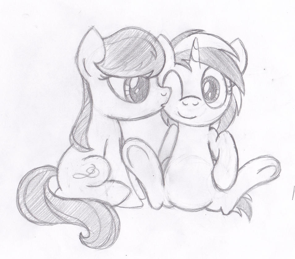 A Kiss for Vinyl (Celebrating 200 Facebook Likes) by drawponies