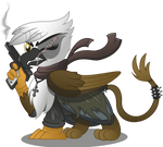 Gawdyna Grimfeathers (Commission Vector)