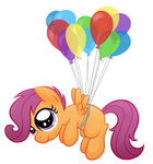 Scootaloo and Balloons