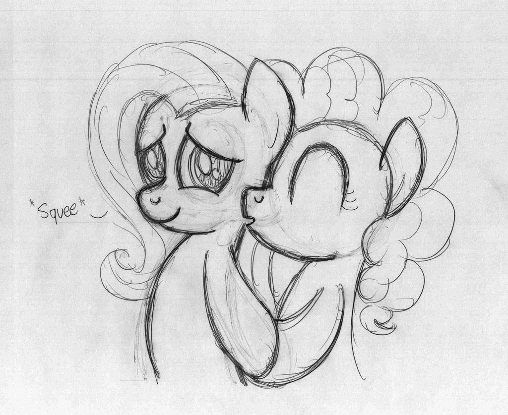 Cute Pinkieshy Kiss by drawponies