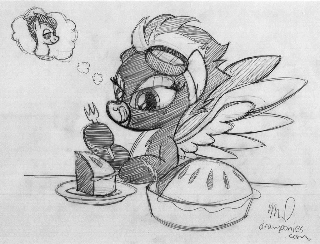 Spitfire Loves Apple Pie by drawponies