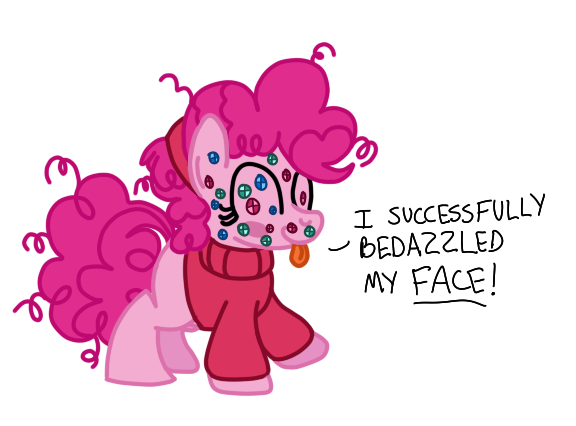 Pinkiebedazzle by drawponies