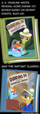 Daring Do's Actual Adventures by artwork-tee