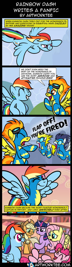 Comic: Rainbow Dash Writes a Fanfic