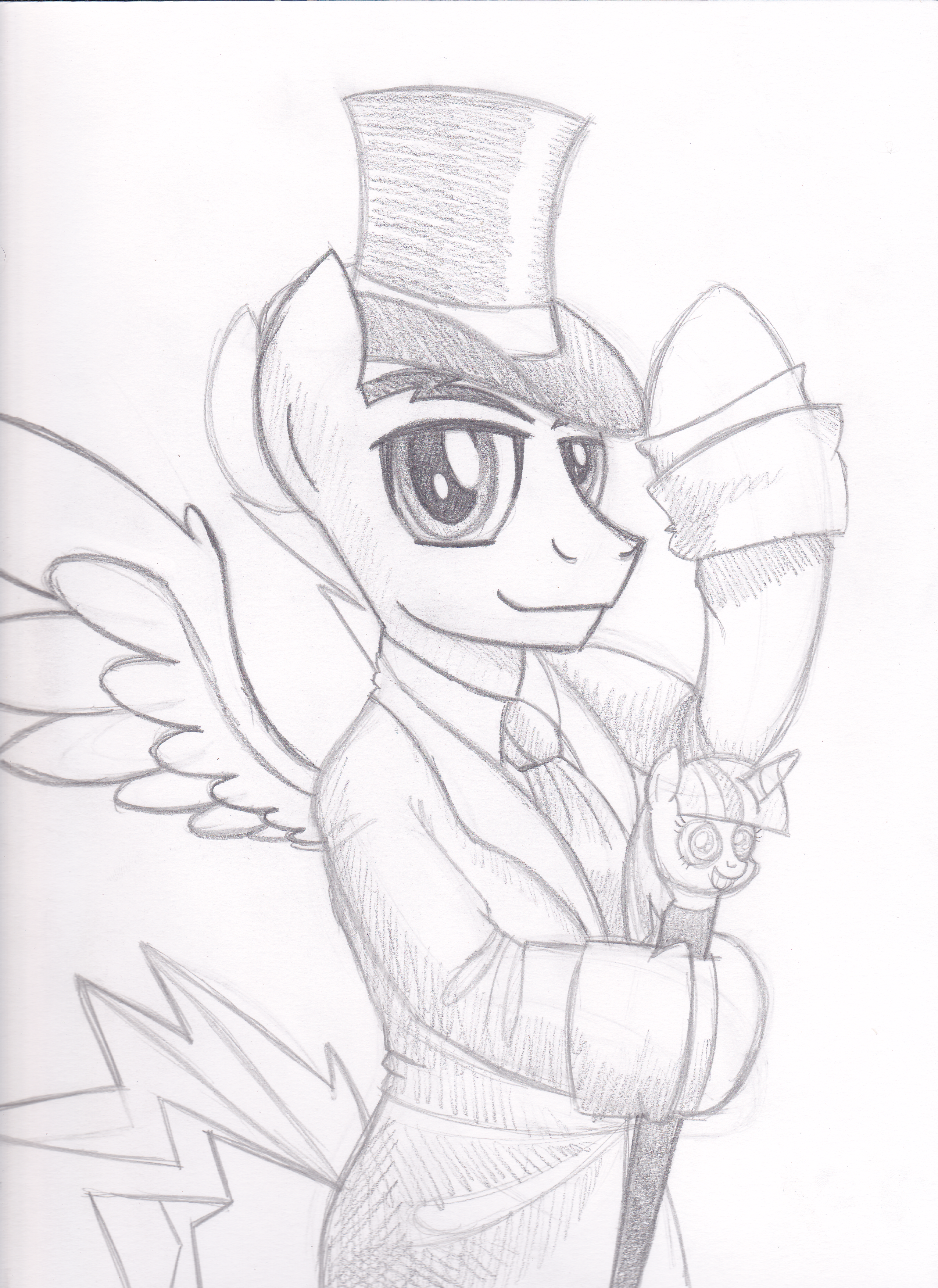Rainbow Blitz looking Dashing by drawponies