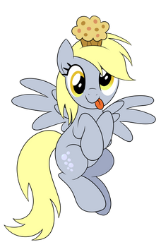 Derpy Muffin Vector (Featured on EQD)