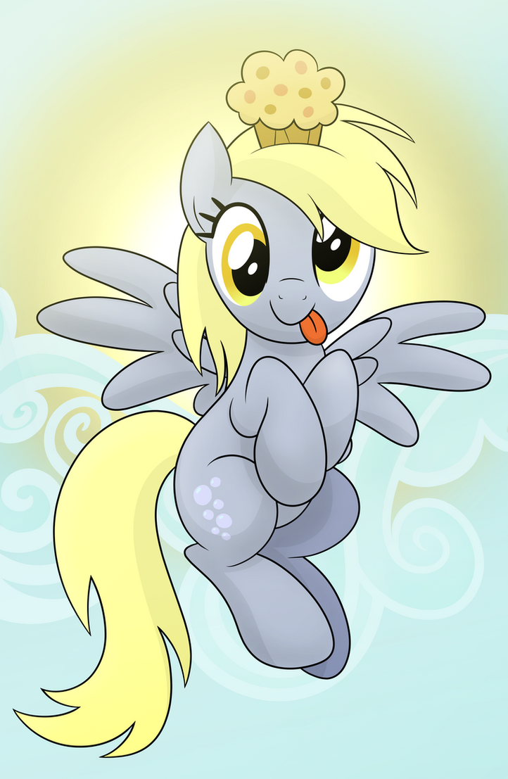 Derpy Muffin Finished by drawponies