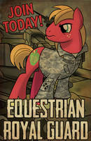Commission: Equestrian Guard (Featured on EQD) by artwork-tee