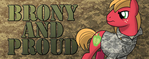 Brony and Proud Military Design by artwork-tee
