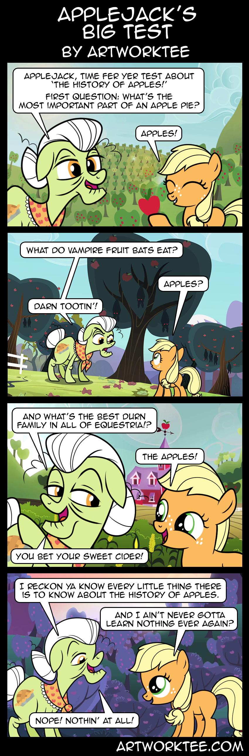 Comic: Applejacks Big Test
