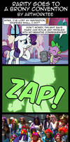 Comic: Rarity Goes to a Brony Convention by artwork-tee