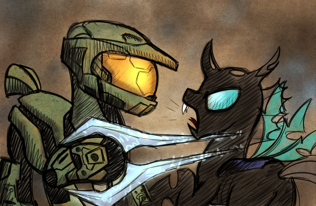 My Little Halo: Friendship is Master Chief by drawponies
