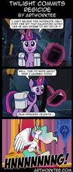 Comic: Twilight Sparkle Commits Regicide by artwork-tee