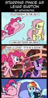 Comic: Starring Pinkie as Levar Burton by artwork-tee