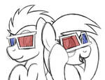 Doctor Whooves and Derpy in 3D