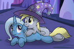 Trixie and Derpy Colored