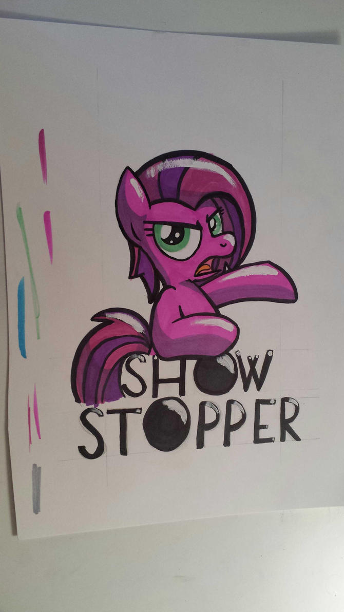 Show Stopper Badge by drawponies