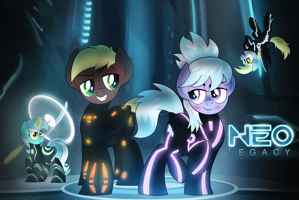 Tron Ponies Commission By Artwork Tee On Deviantart