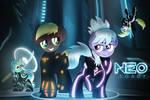 Tron Ponies Commission