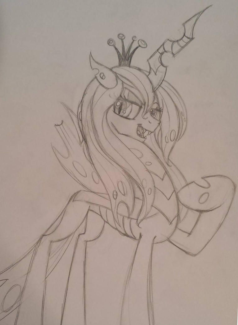Queen of the Swarm by drawponies