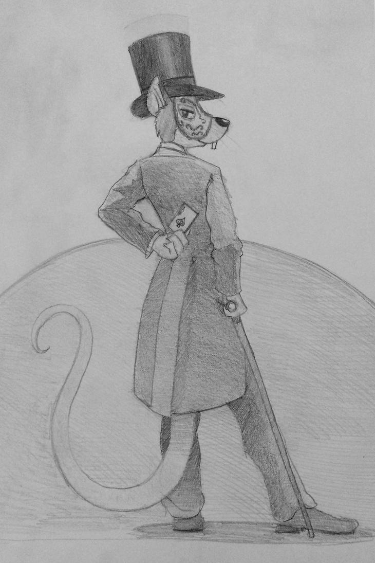 Dapper Rat by drawponies