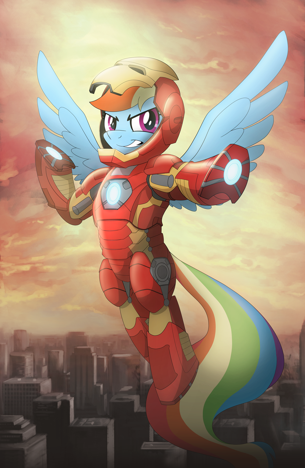 Iron Pony Rainbow Dash