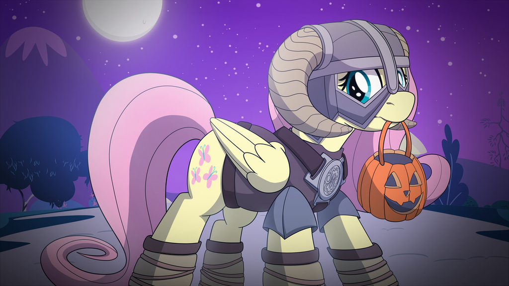 Happy Nightmare Night from Fluttershy! by drawponies