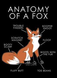 Anatomy of a Fox by artwork-tee