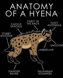 Anatomy of a Hyena by artwork-tee