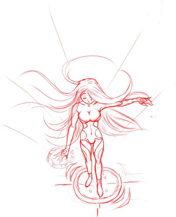 Summoning sketch by Ecchi-Senshi