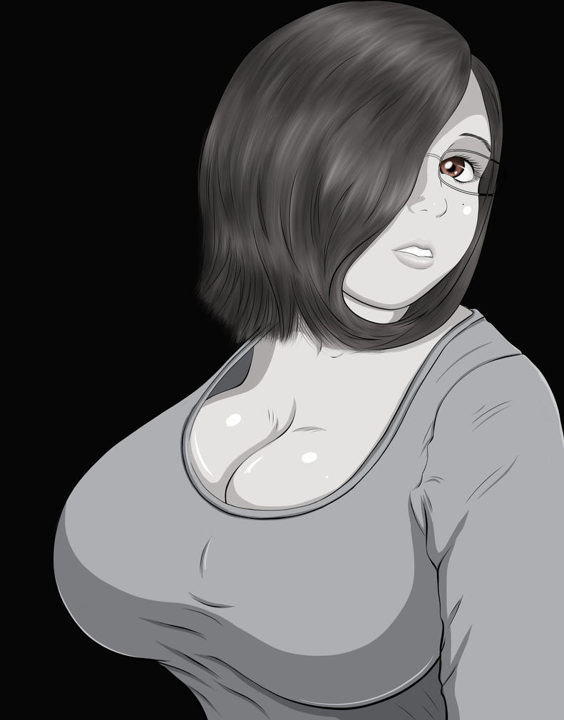 Karen Bust Up Grey-scale by Ecchi-Senshi